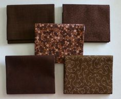Basically Patrick Lose by RJR Fabrics~Cotton Fabric~Brown~Fat Quarter Bundle of 5~Fast Shipping FQ541