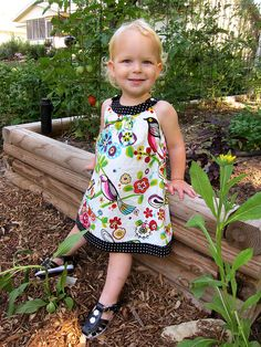 """Snappy"" toddler dress pattern"