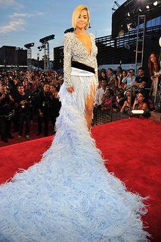 Rita Ora in Alexandre Vauthier at the MTV VMAs 2013