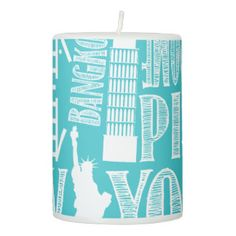 Metropolitan, Modern Cities Pillar Candle