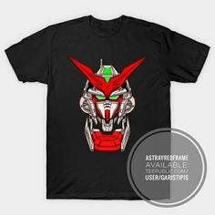 Gundam Astray Red Frame Tshirt available on: teepublic.com/user/garistipis redbubble.com/people/garistipis society6.com/garistipis