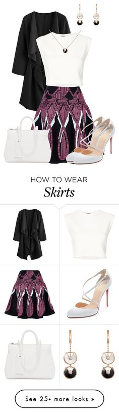 """Style This Skirt"" by lchar on Polyvore featuring Peter Pilotto, Puma, Cartier, Marsèll and Christian Louboutin"