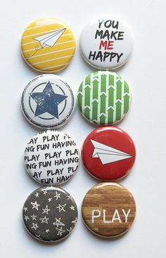 Paper Airplane Flair by aflairforbuttons on Etsy