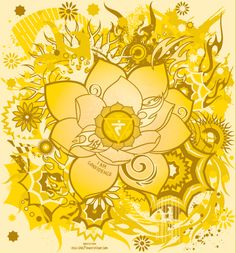 Manipura   3° chakra ou chakra de l'accomplissement : la couleur de ce chakra est jaune. Il est situé sur le plexus solaire. Il influence le métabolisme et l'énergie vitale, et régule le flux de l'énergie psychologique et émotionnelle (on dit vert de peur !). Il est en rapport avec la capacité d'achever, d'accomplir. C'est la paix et la satisfaction.