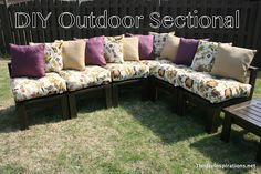"DIY Outdoor Sectional... forget about being ""outdoor"" - I'd love to have this indoors! So cool!!"