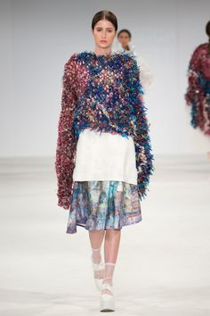 Fashion Textiles: Print Graduate . UCA Rochester Graduate Fashion Show 2015. Click through to see full gallery on vogue.co.uk.
