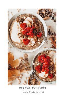Ein leckeres Porridge auf Basis vonQuinoa - eine kleine Abwechslung zum klassischen Haferbrei. Vegan + glutenfrei, so reich an Vitalstoffen & Aminosäuren und einfach super lecker!