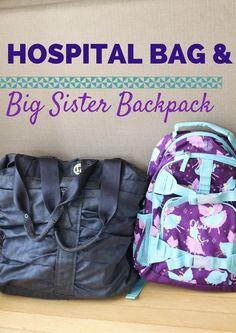 Family: Hospital bag for baby #2 + big sister bag for Livi