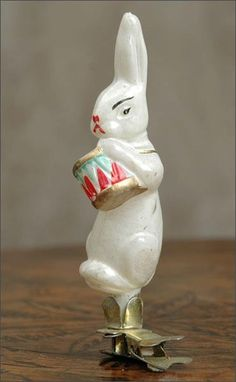 A Russian glass Christmas ornament, a Bunny .