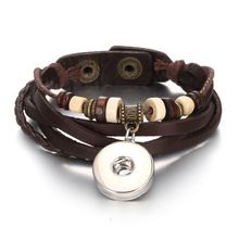 US $1.72     Buy Jewelry At Wholesale Prices!     FREE Shipping Worldwide     Buy one here---> http://jewelry-steals.com/products/black-brown-braided-pu-leather-ginger-snap-button-bracelet-multilayers-adjustable-punk-bracelets-diy-18mm-buttons-jewelry/    #rings