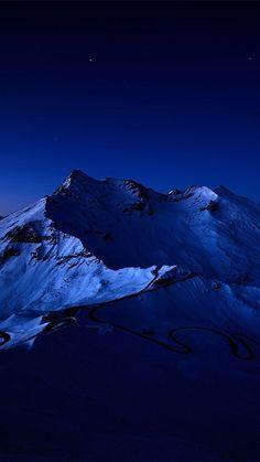 Night-Sky-Over-Snow-Mountain-Peak-iPhone-6-Plus-HD-Wallpaper.