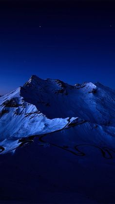 Night-Sky-Over-Snow-Mountain-Peak-iPhone-6-Plus-HD-Wallpaper.