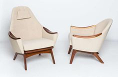 Adrian Pearsall lounge chairs for Craft Associates, INC. | From a unique collection of antique and modern lounge chairs at http://www.1stdibs.com/furniture/seating/lounge-chairs/