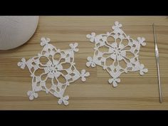 Мастер-класс вязание СНЕЖИНКИ How To Crochet a Snowflake - YouTube