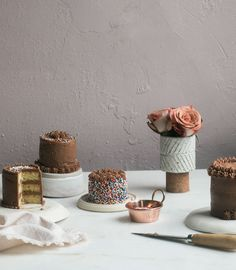 Mini Yellow Cakes with Malt Chocolate Frosting – A Cozy Kitchen
