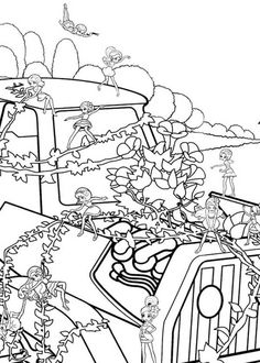 Barbie Thumbelina Coloring Pictures (With images) | Barbie ...