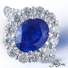 @J B Star Product: 4506-004 Style: 4506-004  Platinum Sapphire, & Diamond Ring Center: Oval Sapphire 3.99 ct. Diamonds: 1.93 ct. tw. (Round)