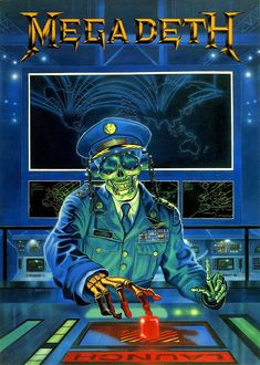 """The Punishment Due from """"Rust in peace"""" General Vic Rattlehead Launch Heavy Metal Rock, Heavy Metal Music, Heavy Metal Bands, Hard Rock, Music Artwork, Metal Artwork, Art Music, Thrash Metal, Rock Posters"""