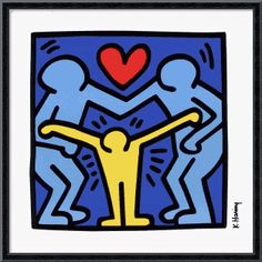 Color and emotion example, keith haring