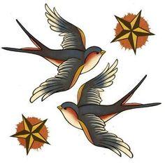 18 Trendy swallow bird tattoo old school Feather Tattoos, Flower Tattoos, Body Art Tattoos, Ship Tattoos, Ankle Tattoos, Swallow Bird Tattoos, Tattoo Bird, Trendy Tattoos, Cool Tattoos