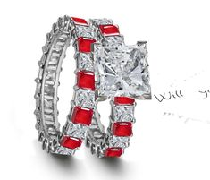 How a Bama girl gets married   Premier Designer Jewelry Collection - Ruby Emerald Sapphire Eternity Rings