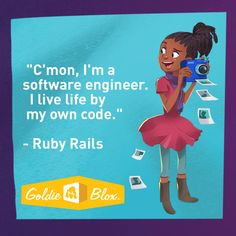 Meet Ruby Rails: She is the best coder at school AND has a passion for fashion!