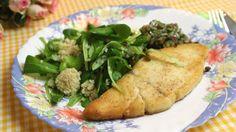 Gegrilde botervis, bulgur en vinaigrette met ansjovis en kappertjes  | VTM Koken