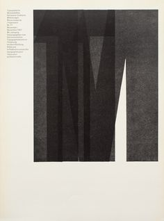 Cover from 1967 issue 11 // Horst Hohl // (1932) Swiss typographer and teacher who studied at the Schule für Gestaltung Basel.