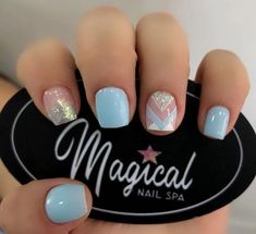 Mani Pedi, Nail Manicure, Pedicure, Gel Nails, Nail Polish, Purple And Pink Nails, Semi Permanente, Girl Baby Shower Decorations, Nail Spa