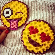 Emojis hama beads by lollypop27