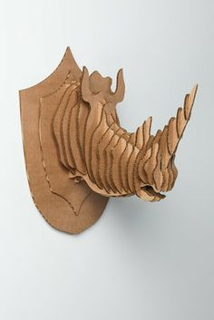 1000 images about sculpture cardboard taxidermy on pinterest taxidermy faux taxidermy and rhinos - Cardboard deer mount ...