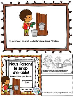 Temps des sucres: Maple Sugar Time Themed Emergent Reader in French French Teaching Resources, Teaching French, Quebec Winter Carnival, Maple Sugar, Core French, French Teacher, French Immersion, Emergent Readers, Reading Activities