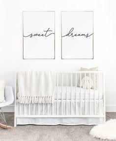Above crib art/ set of 2 prints/ minimalist poster/ Above bed art/ above crib decor/ nursery print/ bedroom wall art/ Sweet Dreams print by LittleLadyPrintShop on Etsy https://www.etsy.com/listing/558008495/above-crib-art-set-of-2-prints