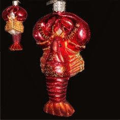 Lobster Blown Glass Ornament | Glass Christmas Ornaments and ...
