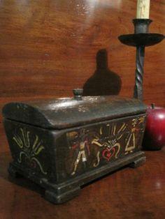 Antique Brides Box | brides boxes antiques wooden antiques 1700s folk art