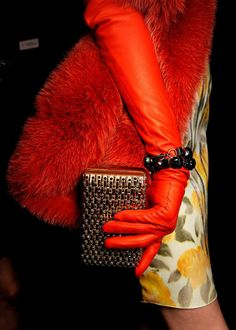 Lanvin Fall 2012 Ready-to-Wear Fashion Show Glamorous Chic Life, Jeanne Lanvin, Leather Gloves, Fashion Details, Furla, Lady In Red, Fashion Show, Leather Fashion, Fashion Fashion