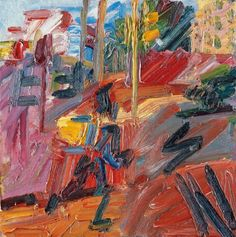 From Tate Britain, Frank Auerbach, Hampstead Road, High Summer Oil paint on board, × cm Frank Auerbach, Berlin, Tate Britain, Royal College Of Art, Art Walk, London Art, Abstract Expressionism, Abstract Art, Abstract Paintings