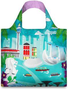 """Urban Singapore"" Reuseable Bag by LOQI (Design by Melissa Mackie) | SOURCE: http://www.loqi.eu/collections/bag-collections/products/urban-br-singapore"