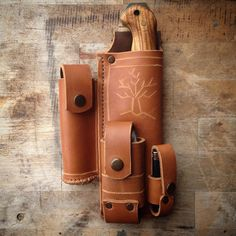 Bk2 all in one leather sheath .. ( yes it is a little bit heavy but very compact…