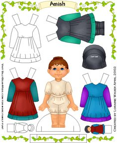 amish paper doll