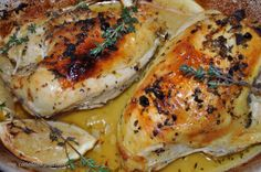 Barefoot Contessa's roasted lemon chicken breasts