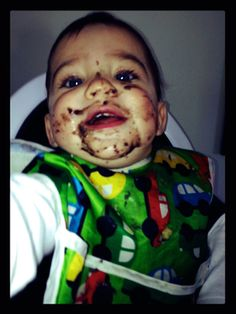 Show me your baby's messiest eating face for a chance to win free Beech-Nut baby food for a year! #giveaway #contest