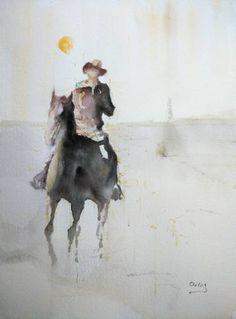 """Saatchi Art Artist OSCAR ALVAREZ; Painting, """"Vaquero 33"""" #art"""