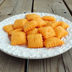 Homemade Cheez-Its (Cheddar Cheese Crackers) Adapted from Dinner Dishes and Desserts, original recipe from In Katrina's Kitchen