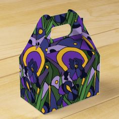 Blue Iris Floral Art Gift Boxes #irises #flowers #art #gift #boxes And www.zazzle.com/inspirationrocks*