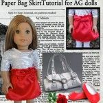 Paper Bag Skirt for American Girl Dolls and more free patterns