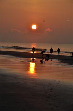 Sunrise along North Carolina Beach