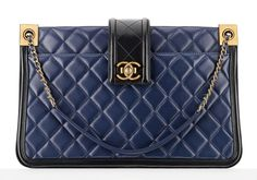Chanel Large Bicolor Shopping Tote $5,200 via Chanel