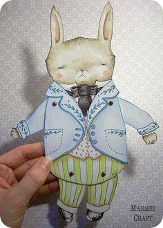 Marjorie Liucci, MarmeeCraft, paper doll