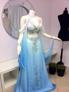 my husband would think this is a belly dancer costume & freak out!  Inspiration for Blue Fairy costume or Sleeping beauty - Costume by Firefly Path